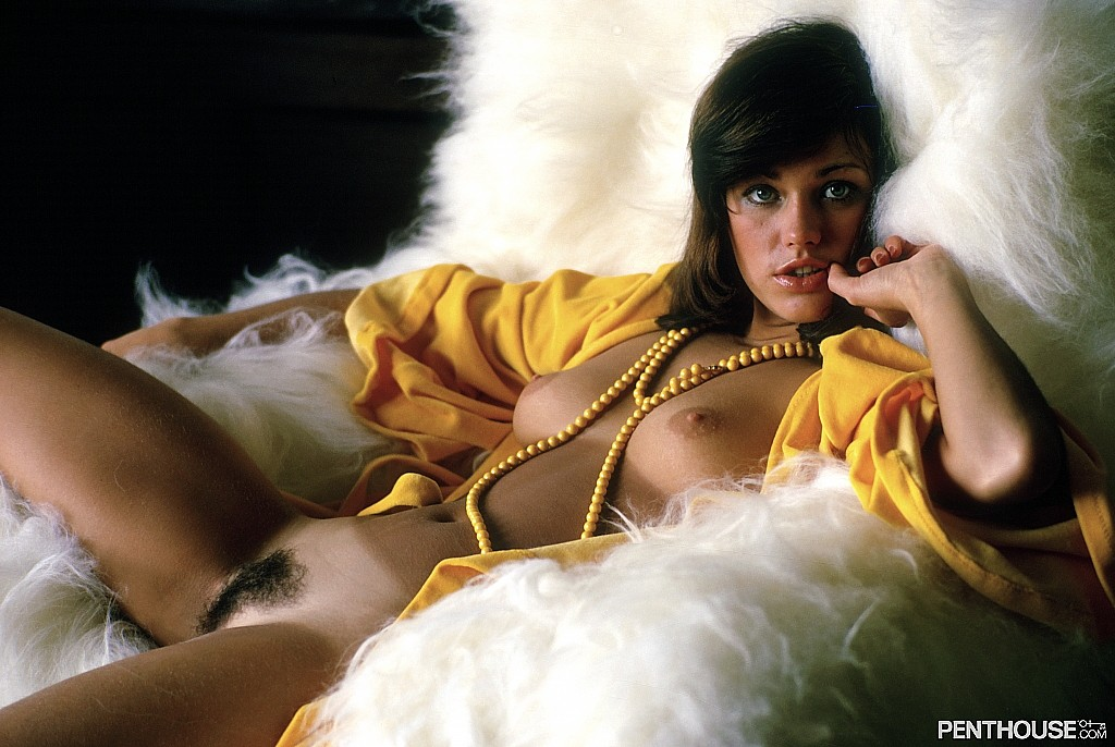 Marie Ekorre posing nude for the March 1974 issue of Penthouse