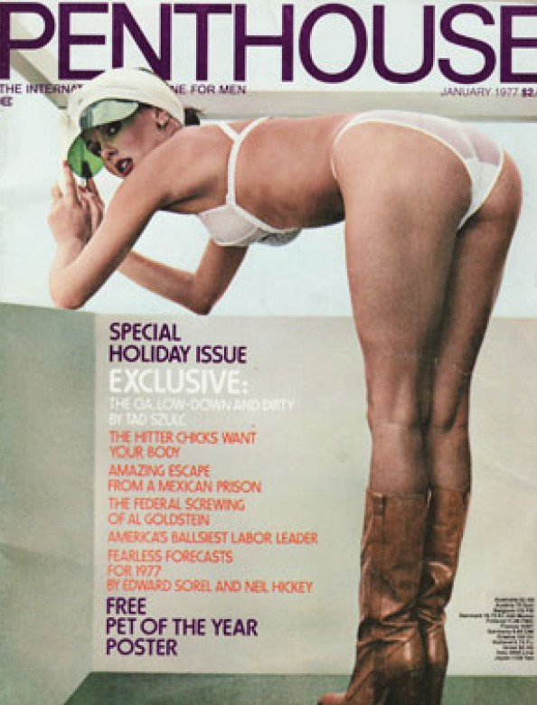 Marilyn Connor on the cover of Penthouse magazine