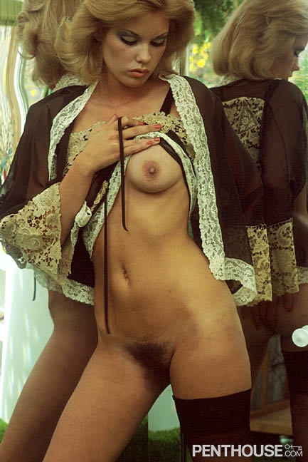 Marilyn Connor posing nude for the January 1977 issue of Penthouse