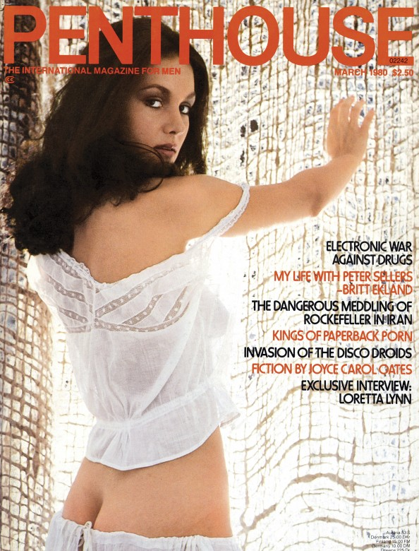 Mary Knight on the cover of Penthouse Magazine