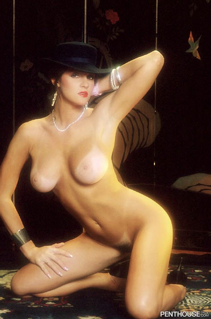 Melissa Leigh posing nude for the May 1987 issue of Penthouse