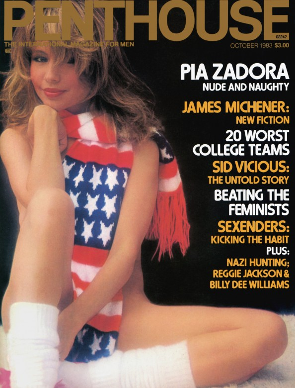 Nadine Greenlaw on the cover of Penthouse Magazine