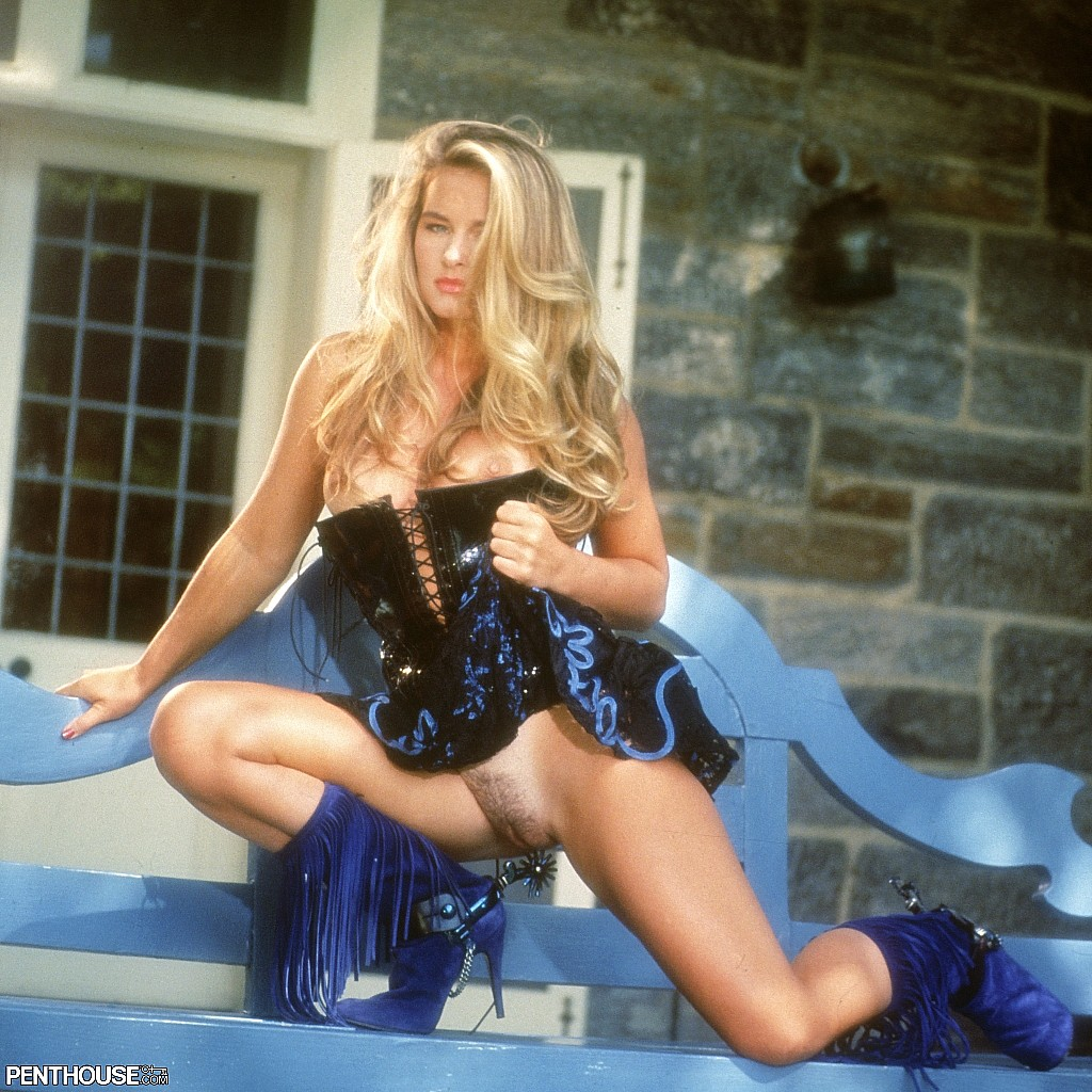 Natalie Smith posing nude for the March 1993 issue of Penthouse