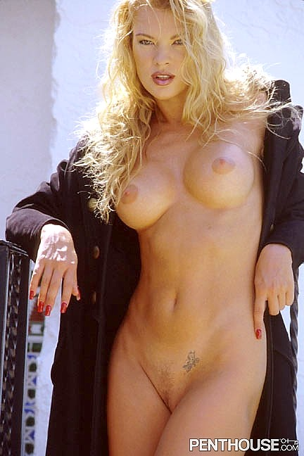 Nikie St Gilles posing nude for the March 1997 issue of Penthouse