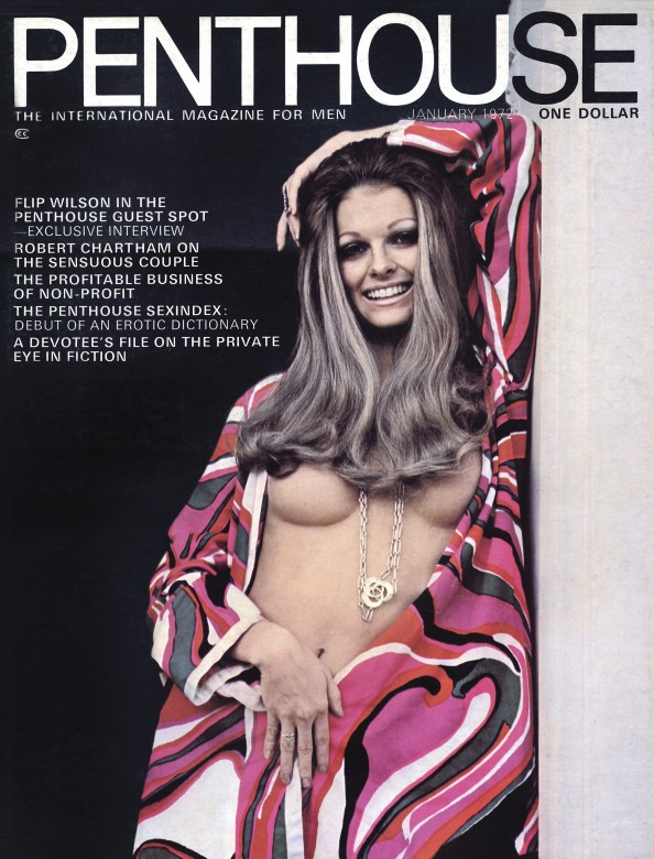 Patricia Cherokee Barret on the cover of Penthouse magazine