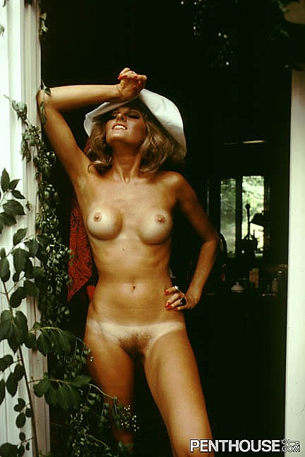 Patricia Cherokee Barret posing nude for the January 1972 issue of Penthouse