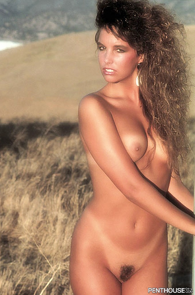Sharon Fitzpatrick posing nude for the April 1993 issue of Penthouse April 1993