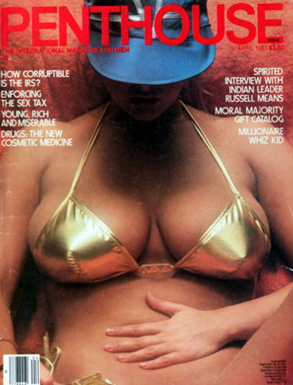Sherry Moran on the cover of Penthouse Magazine