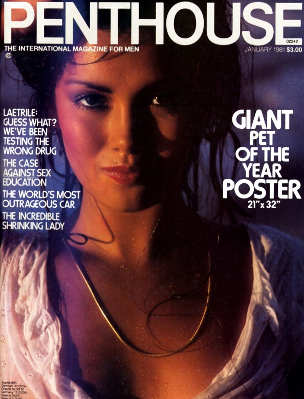 Suzee on the cover of Penthouse Magazine