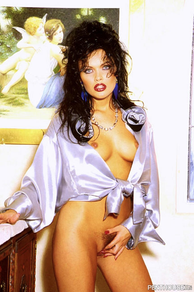 Tania Russof posing nude for the September 1996 issue of Penthouse