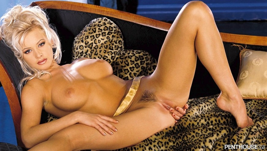 Zdenka Podkapova posing nude for the April 1999 issue of Penthouse