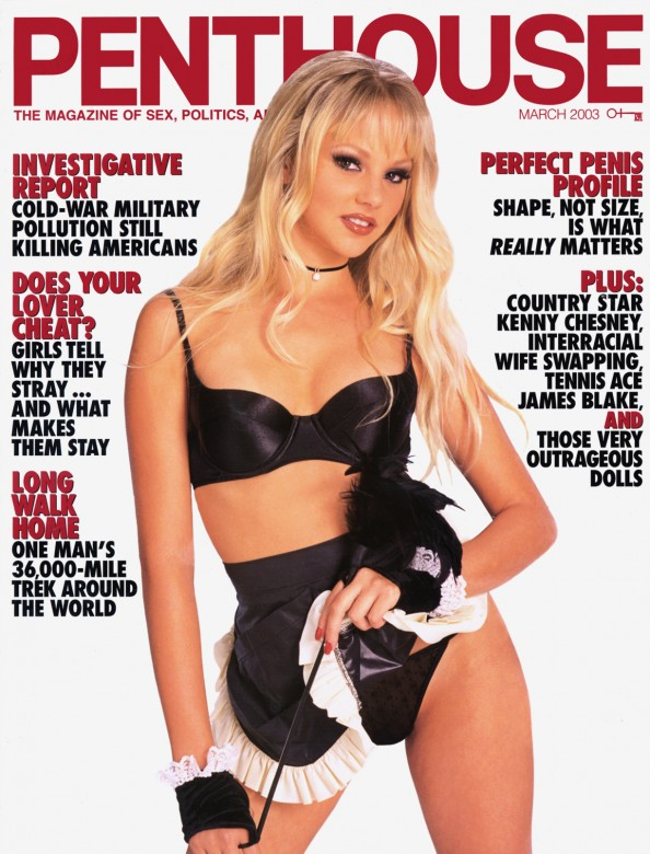 Lilly Ann on the cover of Penthouse magazine