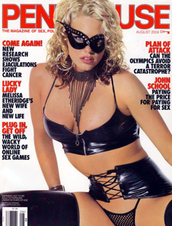 Montana Bay on the cover of Penthouse magazine August 2004