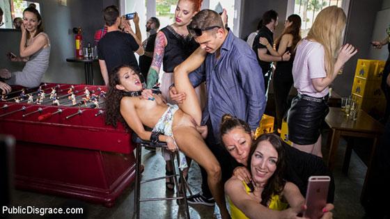 Silvia Rubi, Melody Petite (Submissive, Slut Melody Petite Gets Humiliated and Fucked in Public! / 08.08.2017)