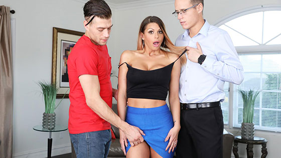 Brooklyn Chase (Blackmailed Stepmom Brooklyn's 1st DP! / 01.18.2018)
