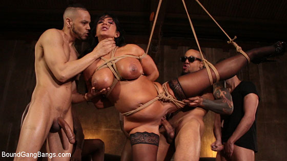 Raven Hart (Gets Bound, Fucked and Wrecked in Ruthless Gangbang / 04.05.2018)