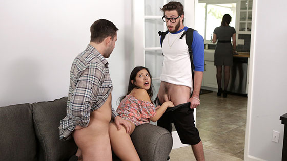 Step Family Threesome with Jasmine Gomez