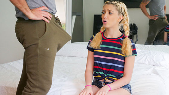 Horny Stepdaughter Spots Stepdad's Big Dick with Jane Wilde