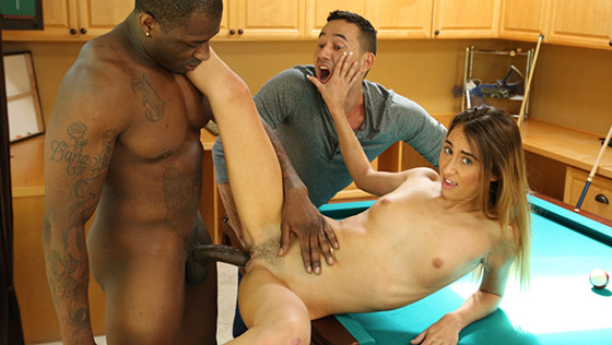 Carefree Petite Wife Cucks Her Clueless Husband with Raquel Diamond