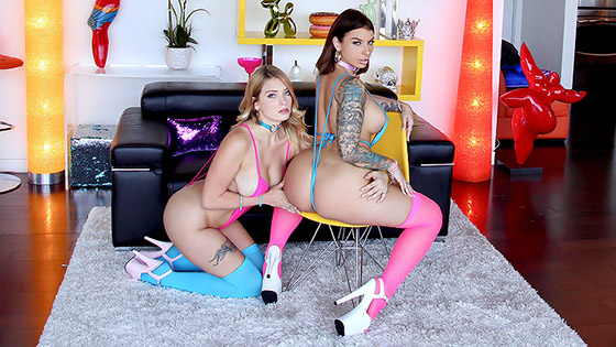 Anal Teamwork with Ivy Lebelle, Giselle Palmer