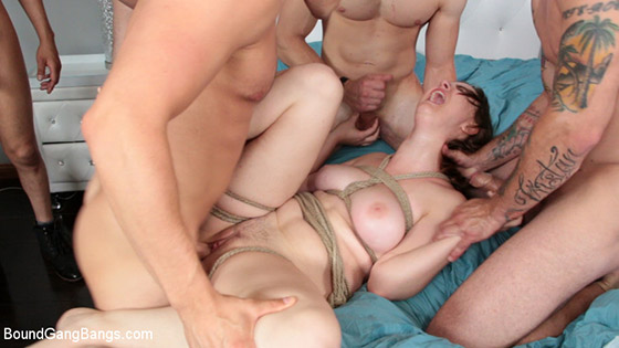 DP'd in First Gangbang Ever! with BoundGangBangs