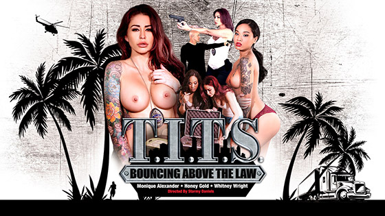 with Monique Alexander, Whitney Wright, Honey Gold