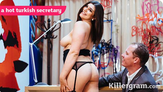 A Hot Turkish Secretary with July Johnson