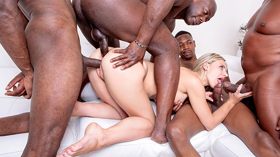 Loves Interracial Gangbangs with Nathaly Cherie