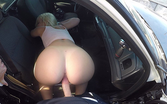Hijacks The Police Cruiser And Gets Fucked For Being A Bad Girl! with Layla Love