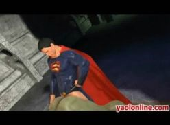 Superman e Hulk no porno gay hentai