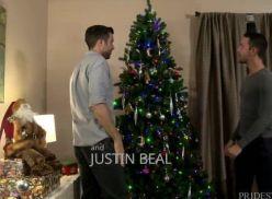 Em ritmo natalino transando com o namorado.