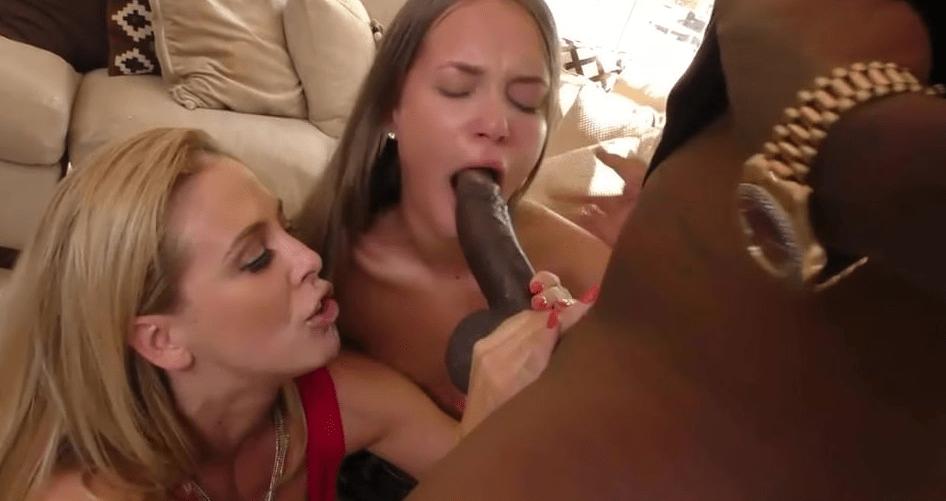 video relacionado Lindas jovenes comiendo una polla negra