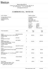 19 facture westcon africa I1333331 Page1 - Les 76 virements internationaux de1.047.060 euros que RANARISON Tsilavo considèrent comme illicites ont une contre partie et les 76 OVs ont été signés par le plaignant lui-même