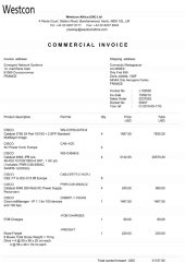 19 facture westcon africa I1333331 Page1 - Les 76 virements internationaux de1.047.060 euros que RANARISON Tsilavo considèrent comme illicites ont une contre partie et les 76 OVs ont été signés par le plaignant lui-même : la preuve complète est ici !
