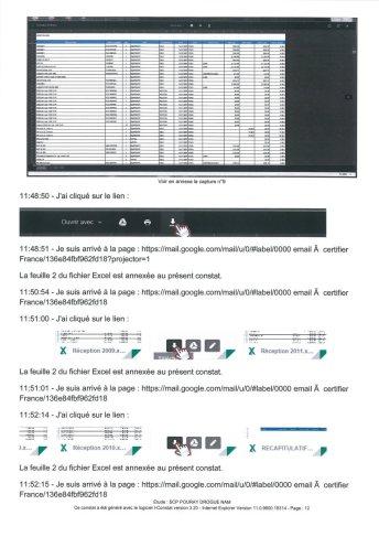 Constat dhuissier effectué selon les règles de lart Page12 1 - Les emails présentés ont été authentifiés par un huissier selon les règles de l'art