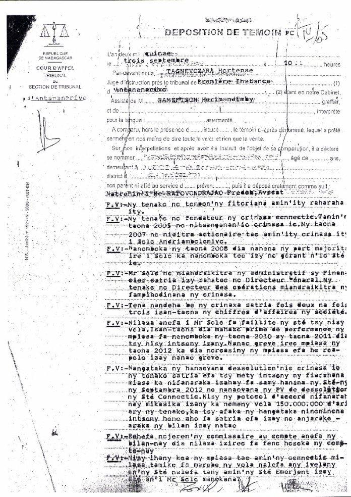VM et VF PV juge dinstruction RAnarison Tsilavo du 3 septembre 2015 Page1 - RANARISON Tsilavo a établi la première facture IOS (licence ou logiciel CISCO) d'EMERGENT pour CONNECTIC Madagascar