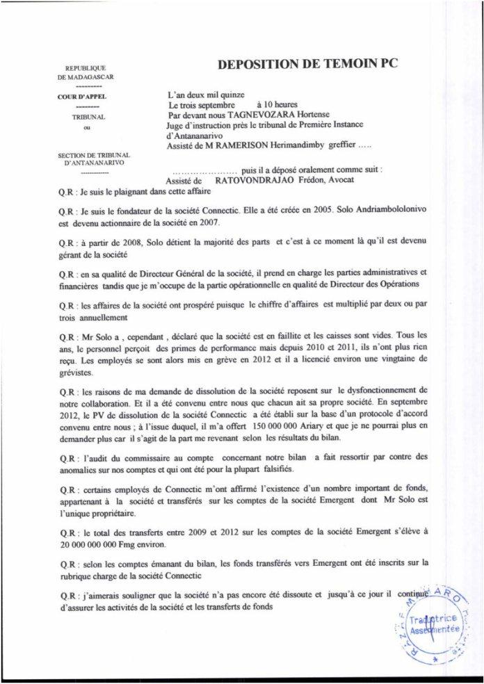VM et VF PV juge dinstruction RAnarison Tsilavo du 3 septembre 2015 Page3 - RANARISON Tsilavo a établi la première facture IOS (licence ou logiciel CISCO) d'EMERGENT pour CONNECTIC Madagascar