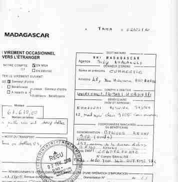 RANARISON Tsilavo a signé les ordres de virement 2010 1 - Home