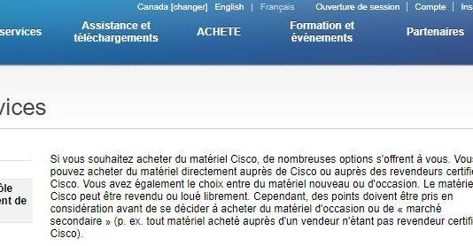 Le matériel Cisco peut être revendu ou loué librement - Home