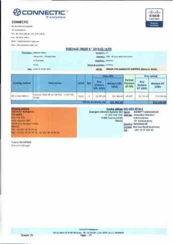 RANARISON Tsilavo ont signé les bons de commande de EMERGENT pour WESTCON Africa Page13 - Ce n'est qu'en septembre 2012, que RANARISON Tsilavo reçoit la confirmation que la société française EMERGENT NETWORK appartient exclusivement à Solo