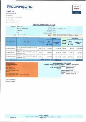 RANARISON Tsilavo ont signé les bons de commande de EMERGENT pour WESTCON Africa Page7 - RANARISON Tsilavo signent les bons de commande des produits CISCO achetés par EMERGENT NETWORK à WESTCON pour CONNECTIC