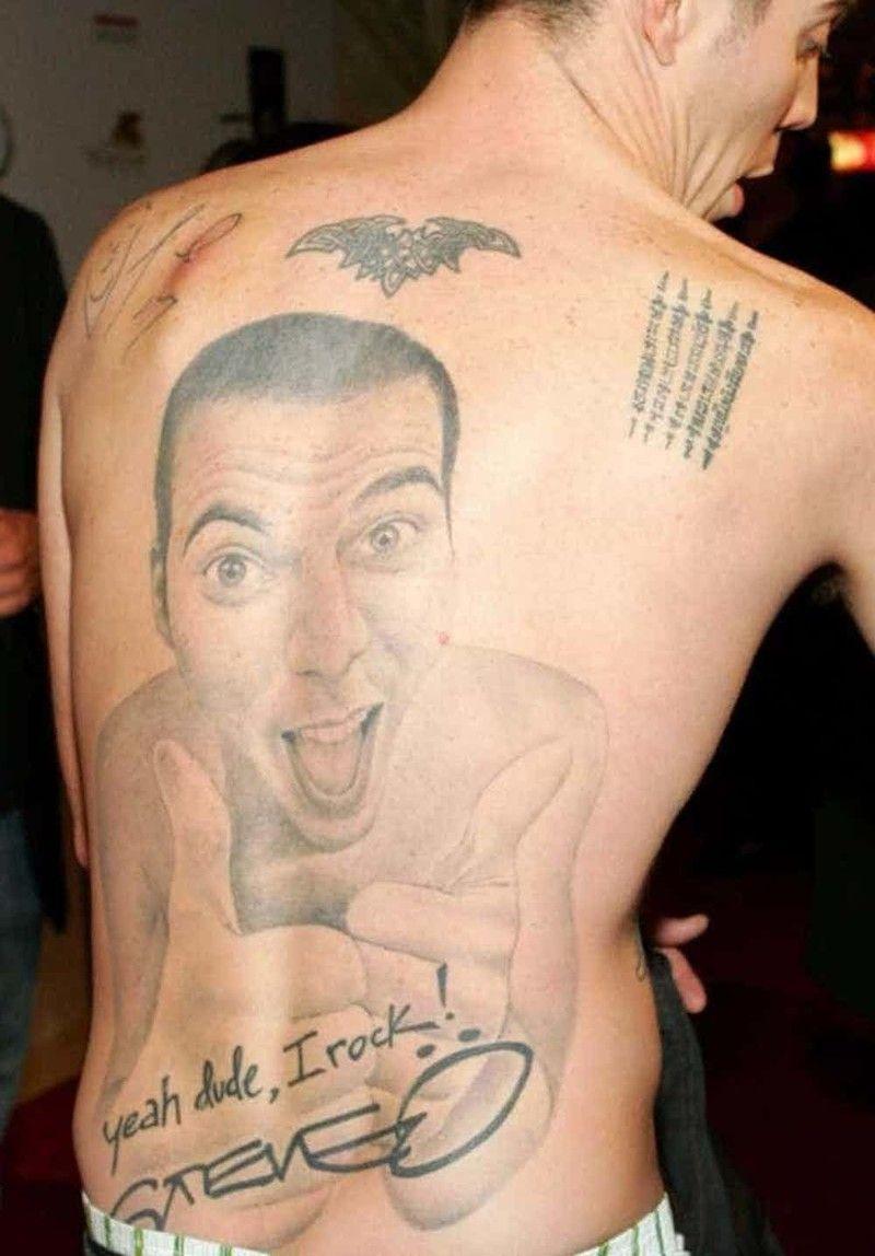татуировки знаменитостей глупые личные смешные поросёнканет
