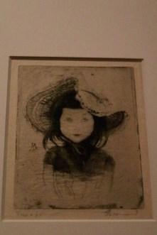 Portrait de Germaine Besnard (fille du peintre - à 4 ans - 1888) - Albert Besnard