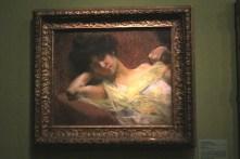 """""""Jeune femme à l'écharpe jaune"""" (pastel sur papier) - Albert Besnard"""