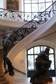Petit Palais - Escalier et Sculpture de Carpeaux (Hugolin)