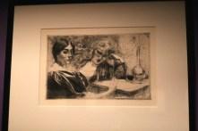 """""""Les morphinomanes """" (Eau forte et pointe sèche sur cuivre - 1887) - Albert Besnard"""