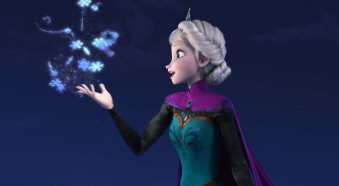 Elsa from Frozen with snow flake