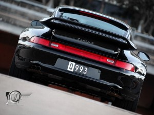 1997 black Porsche 911 993 Turbo S