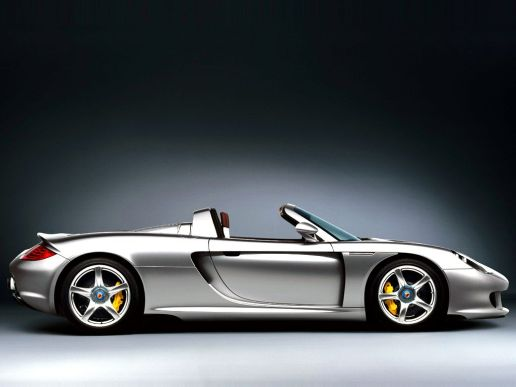 2005 Silver Porsche Carrera GT SIde view