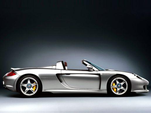 2005 Silver Porsche Carrera GT SIde view